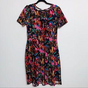 Lularoe Amelia Abstract Print Pocket Dress